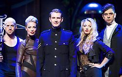 Impossible<br /> at the <br /> Noel Coward Theatre, London, Great Britain <br /> Press photocall<br /> 12th July 2016 <br /> <br /> <br /> <br /> <br /> <br /> Jonathan Goodwin<br /> Sabine Van Diemen<br /> with Lance Corporal Richard Jones, Britain's Got Talent winner. <br /> Josephine Lee<br /> Ben Hart <br /> <br /> <br /> Opening Night: Wednesday 13 July 2016 <br /> <br />  <br /> <br /> <br /> Photograph by Elliott Franks <br /> Image licensed to Elliott Franks Photography Services