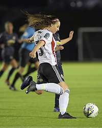 February 20, 2019 - Sheffield, United Kingdom - Sam Tierney (Sheffield United) clears the ball under pressure        during the  FA Women's Championship football match between Sheffield United Women and Manchester United Women at the Olympic Legacy Stadium, on February 20th Sheffield, England. (Credit Image: © Action Foto Sport/NurPhoto via ZUMA Press)
