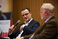 DEU, Deutschland, Germany, Berlin,28.02.2018: Jens Spahn und Autor Manfred Lütz bei der Buchvorstellung: Taugt das Christentum noch als geistiges Fundament Europas? Der Skandal der Skandale.