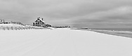 Beach Covered in snow Wainscott, NY
