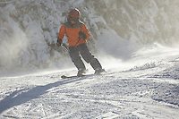 Russell Laman (age 12) skiing at Wildcat Mountain, New Hampshire.