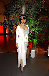 PATTI WONG at Andy & Patti Wong's Chinese New Year party to celebrate the year of the Rooster held at the Great Eastern Hotel, Liverpool Street, London on 29th January 2005.  Guests were invited to dress in 1920's Shanghai fashion.<br /><br />NON EXCLUSIVE - WORLD RIGHTS