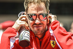 May 13, 2018 - Barcelona, Catalonia, Spain - SEBASTIAN VETTEL (GER), Ferrari, is presented to the crowd prior the Spanish GP at Circuit de Barcelona - Catalunya (Credit Image: © Matthias Oesterle via ZUMA Wire)