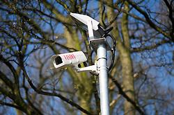 CCTV cameras installed on a refurbished housing estate in Sheffield