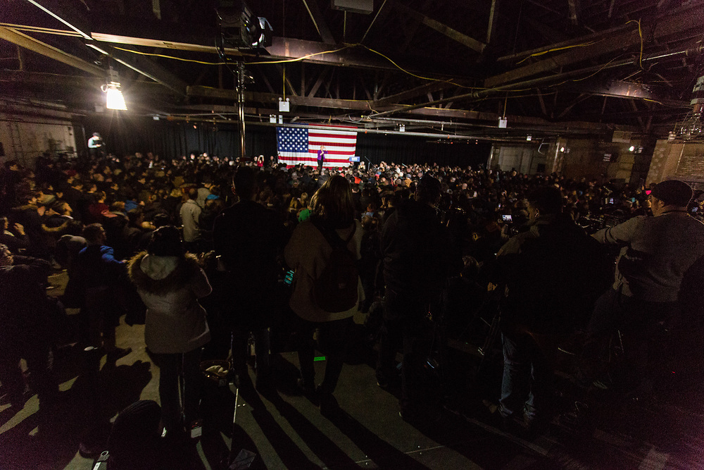 Long Island City, NY – 8 March 2019. Massachusetts Senator and Democratic Presidential candidate Elizabeth Warren drew an enthusiastic crowd at an organizing rally for her 2020 presidential campaign in Long Island City. The venue was nearly packed with supporters and press.