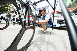 Dejan Rifelj of Adria Mobil during 5th Time Trial Stage of 25th Tour de Slovenie 2018 cycling race between Trebnje and Novo mesto (25,5 km), on June 17, 2018 in  Slovenia. Photo by Vid Ponikvar / Sportida