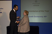 GWYNETH DUNWOODY. Association awards, 2005. Institute of Directors. Pall Mall. London. 29 November 2005. ONE TIME USE ONLY - DO NOT ARCHIVE  © Copyright Photograph by Dafydd Jones 66 Stockwell Park Rd. London SW9 0DA Tel 020 7733 0108 www.dafjones.com