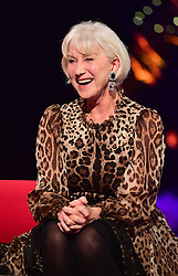 Dame Helen Mirren appearing on the Graham Norton Show filmed at the London Studios. London, which will be transmitted on BBC One on December 23.