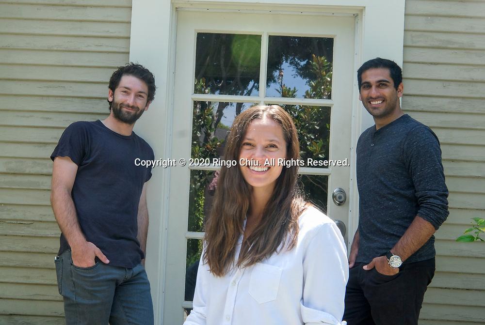 Greg Comanor,. left, Sonya Falcone, center, and Aaron Sassounian of DAYLIGHT.. (Photo by Ringo Chiu)