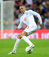 England U21/Portugal U21 European Under 21 Championship 14.11.09 <br /> Photo: Tim Parker Fotosports International<br /> Kieran Gibbs England Under 21's 2009/10