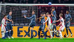 12-12-2018 NED: Champions League AFC Ajax - FC Bayern Munchen, Amsterdam<br /> Match day 6 Group E - Ajax - Bayern Munchen 3-3 / Nicolas Tagliafico #31 of Ajax, Niklas Sule #4 of Bayern Munich, Franck Ribery #7 of Bayern Munich, Joshua Kimmich #32 of Bayern Munich, Donny van de Beek #6 of Ajax, Matthijs de Ligt #4 of Ajax, David Alaba #27 of Bayern Munich