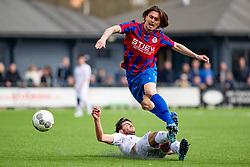 06-04-2019: Voetbal: FC Breukelen v CSW: Breukelen<br /> 1e klasse A -  Seizoen 2018-2019<br /> (L-R) #6 Sam-sin Raoul (FC Breukelen), #3 Jelle van den Bosch (CSW)