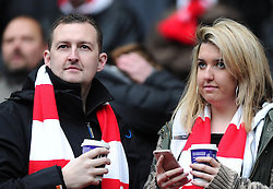 Bristol City fans  - Photo mandatory by-line: Joe Meredith/JMP - Mobile: 07966 386802 - 07/02/2015 - SPORT - Football - Milton Keynes - Stadium MK - MK Dons v Bristol City - Sky Bet League One