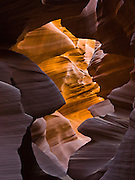 """Lower Antelope Canyon, Antelope Canyon Navajo Tribal Park, near Page, Arizona, USA. Published in """"Light Travel: Photography on the Go"""" by Tom Dempsey 2009, 2010. (The older spelling """"Navaho"""" is no longer used by the Navajo, an American Indian group who call themselves Diné, or Dineh, """"The People."""")"""