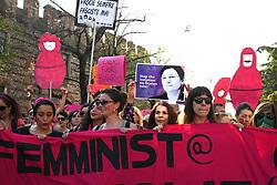Italy, Verona  - March 30, 2019.Massive protest against anti-gay, anti-abortion and anti-feminist Families World Conference. (Credit Image: © Passaro/Fotogramma/Ropi via ZUMA Press)