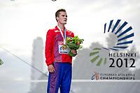 Friidrett<br /> EM 2012 Helsingfors<br /> 01.07.2012<br /> Foto: Deca/ Digitalsport<br /> <br /> Henrik Ingebrigtsen vinner EM-gull på 1500 meter