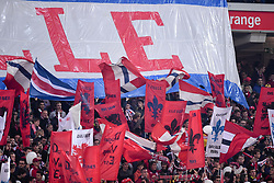 October 29, 2017 - Lille, France - ILLUSTRATION - SUPPORTERS - DRAPEAUX (Credit Image: © Panoramic via ZUMA Press)