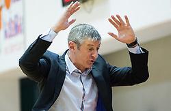 Damjan Novakovic, head coach of Rogaska during basketball match between KK Tajfun and KK Rogaska in 4th Round of Final of Slovenian National Basketball Championship 2014/15, on May 28, 2015 in OS Hrusevec, Sentjur pri Celju, Slovenia. Photo by Vid Ponikvar / Sportida