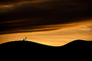 Sunset over the sand dunes at Stovepipe Wells in Death Valley National Park, California, USA.