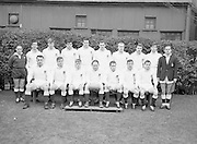 The English team which  beat Ireland in the last kick of the game when CW McFadyean sent the ball between the posts to put England up by converted try over the Irish 3 points,..Irish Rugby Football Union, Ireland v England, Five Nations, Landsdowne Road, Dublin, Ireland, Saturday 11th February, 1967,.11.2.1967, 2.11.1967,..Referee- D M Hughes, Welsh Rugby Union, ..Score- Ireland 3 - 8 England, ..English Team, ..R W Hosen, Wearing number 15 English jersey, Full Back, Bristol Rugby Football Club, Bristol, England, and, Cornwall Rugby Football Club, Cornwall, England, ..K F Savage, Wearing number 11 English jersey, Left Wing, Northhampton Rugby Football Club, Northhampton, England, and, East Midlands Rugby Football Club, Northampton, England,..C R Jennins, Wearing number 12 English jersey, Left Centre, Waterloo Rugby Football Club, Liverpool, England, and, Lancashire Rugby Football Club, Lancashire, England,..C W McFadyean, Wearing number 13 English jersey, Right Centre, Moseley Rugby Football Club, Birmingham, England, and, Somerset Rugby Football Club, Somerset, England,..P B Glover, Wearing number 14 English jersey, Right Wing, R A F Rugby Football Club, England, and, R A F Cranwell Rugby Football Club, Lincolnshire, England, ..J F Finlan, Wearing number 10 English jersey, Stand Off, Moseley Rugby Football Club, and, North Midlands Rugby Football Club, Birmingham, Hereford & Worcester and Shropshire, England, ..R D A Pickering, Wearing number 9 English jersey, Scrum Half, Bradford Rugby Football Club, West Yorkshire, England, and, Yorkshire Rugby Football Club, Yorkshire, England, ..J N Pallant, Wearing number 8 English jersey, Forward, Nottinghamshire, Lincolnshire and Derbyshire Rugby Football Club, England,  ..R B Taylor, Wearing number 7 English jersey, Forward, Northhampton Rugby Football Club, Northhampton, England, and, East Midlands Rugby Football Club, Northampton, England,..D M Rollitt, Wearing number 6 English jersey, Forward, Bristol Rugby Football Club,