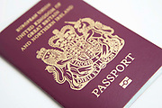 The cover of a British passport.