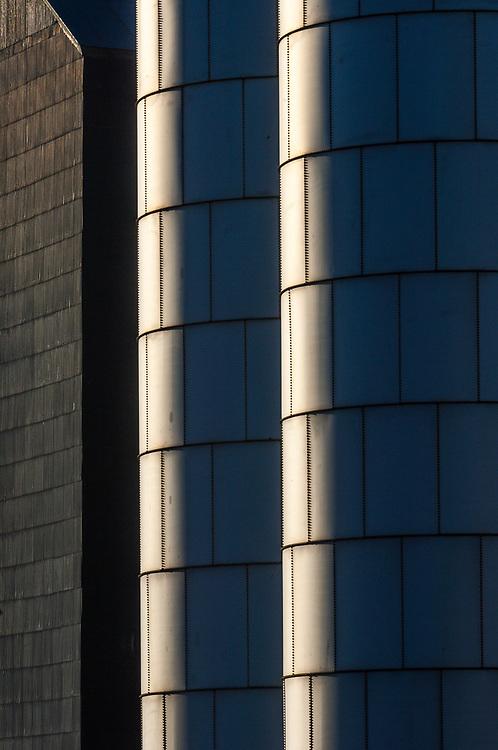 Grain storage tower, afternoon light, September, Columbia River Basin, Grant County, Washington, USA