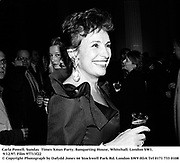 Carla Powell. Sunday  Times Xmas Party. Banqueting House, Whitehall. London SW1. 9/12/97. Film 97713f22<br />© Copyright Photograph by Dafydd Jones<br />66 Stockwell Park Rd. London SW9 0DA<br />Tel 0171 733 0108