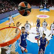 Anadolu Efes's Dario Saric (C) during their Turkish Airlines Euroleague Basketball Group A Round 1 match Anadolu Efes between Unics Kazan at Abdi ipekci arena in Istanbul, Turkey, Thursday, October 16, 2014. Photo by Aykut AKICI/TURKPIX