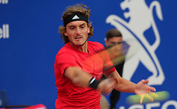 April 29, 2018 - Barcelona, Catalonia, Spain - Stefanos Tsitsipas during the match against Rafa Nadal during the final of the Barcelona Open Banc Sabadell, on 29th April 2018 in Barcelona, Spain. (Credit Image: © Joan Valls/NurPhoto via ZUMA Press)