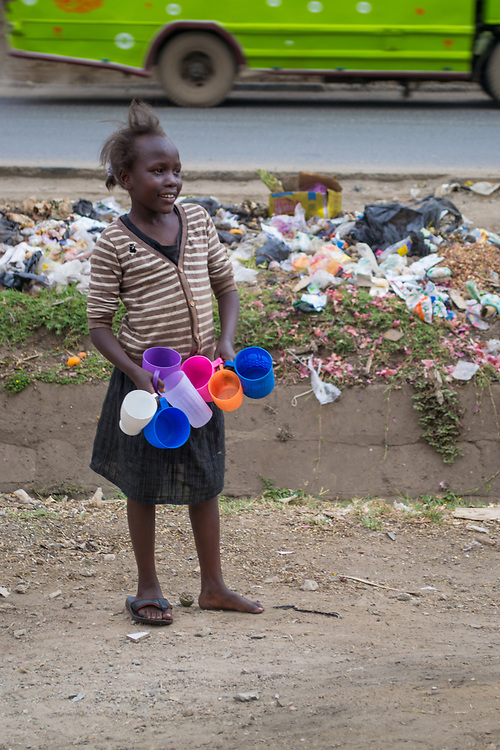 Plastic Cups by Millicent Lodenyi