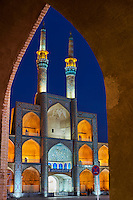 Iran, province de Yazd, Yazd, mosquée Amir Chakhmaq  // Iran, Yazd province, Yazd, Amir Chakhmaq mosque