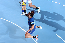 Tanja Oder at EHF Champions league handball match in Group II between RK Krim Mercator and Gyori Audi Eto KC, on February 7, 2009, in Kodeljevo, Ljubljana, Slovenia. Gyori won 35:31. (Photo by Vid Ponikvar / Sportida)