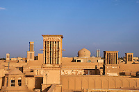 Iran, province de Yazd, Yazd, badgir ou les tours du vents // Iran, Yazd province, Yazd, badgir or the wind towers