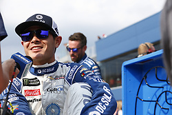 August 10, 2018 - Brooklyn, Michigan, United States of America - Kyle Larson (42) hangs out on pit road prior to qualifying for the Consumers Energy 400 at Michigan International Speedway in Brooklyn, Michigan. (Credit Image: © Justin R. Noe Asp Inc/ASP via ZUMA Wire)
