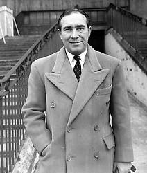 Alf Ramsey, manager at Ipswich Town, where he has changes the fortunes of the East Anglian club by taking them from the Third Division to the First.