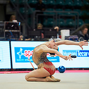 Milena Baldassarri from Ginnastica Fabriano team during the Italian Rhythmic Gymnastics Championship in Bologna, 9 February 2019.