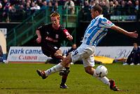 Photo: Alan Crowhurst.<br />Brighton & Hove Albion v Stoke City. Coca Cola Championship. 30/04/2006. Adam Rooney (L) scores his third goal and Stoke's fourth.