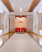 Elevator lobby designed by Collaborative Studios and photographed by Sanford Myers in Nashville, TN.