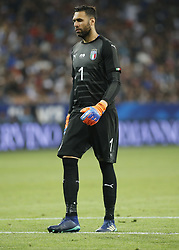June 1, 2018 - Nice, Italy - Salvatore Sirigu during the friendly match between France and Italy, in Nice, on June 1, 2018  (Credit Image: © Loris Roselli/NurPhoto via ZUMA Press)