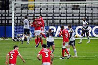 Nottingham Forest players celebrate the opening goal scored by Lewis Grabban<br /> <br /> Photographer Paul Greenwood/CameraSport<br /> <br /> The EFL Sky Bet Championship - Preston North End v Nottingham Forest - Saturday 2nd January 2021 - Deepdale - Preston<br /> <br /> World Copyright © 2020 CameraSport. All rights reserved. 43 Linden Ave. Countesthorpe. Leicester. England. LE8 5PG - Tel: +44 (0) 116 277 4147 - admin@camerasport.com - www.camerasport.com