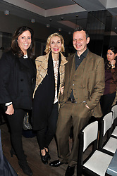 Left to right, PIA MAROCCO, ALLEGRA HICKS and TOM DIXON at a dinner to celebrate the opening of the Serpentine's Gallery new exhibition of work by Jonas Mekas held at Cassis, 232-236 Brompton Road, London SW3, London on 3rd December 2012.