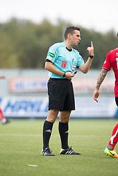 Ref Andrew Dallas. Falkirk 2 v 1 Dunfermline, Scottish Championship game played 15/10/2016, at The Falkirk Stadium.
