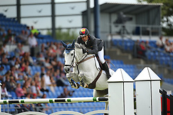 Fernandez Saro Manuel, (ESP), Enriques Of The Lowlands<br /> Team Competition round 1 and Individual Competition round 1<br /> FEI European Championships - Aachen 2015<br /> © Hippo Foto - Stefan Lafrentz<br /> 19/08/15