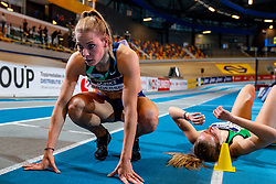 Nadine Broersen after the 1000 meters during the Dutch Athletics Championships on 14 February 2021 in Apeldoorn
