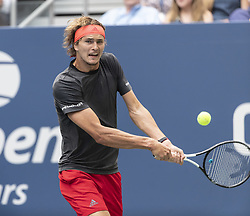 September 1, 2018 - New York, New York, United States - Alexander Zverev of Germany returns ball during US Open 2018 3rd round match against Philipp Kohlschreiber of Germany at USTA Billie Jean King National Tennis Center  (Credit Image: © Lev Radin/Pacific Press via ZUMA Wire)