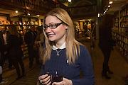 KEELEY WALKER,  Allie Esiri's The Love Book launch party , Daunt Books <br /> 83 Marylebone High Street, London. 5 February 2014