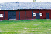 Traditional style Swedish wooden painted house. Smaland region. Sweden, Europe.