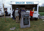 Food stop at the foot of La Redoute.
