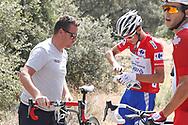 Rudy Molard (FRA - Groupama - FDJ) red jersey, Antonie Duchesne (CAN - Groupama - FDJ), during the UCI World Tour, Tour of Spain (Vuelta) 2018, Stage 9, Talavera de la Reina - La Covatilla 200,8 km in Spain, on September 3rd, 2018 - Photo Luis Angel Gomez / BettiniPhoto / ProSportsImages / DPPI