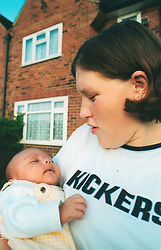 Teenage mother living in temporary accomodation; Leeds